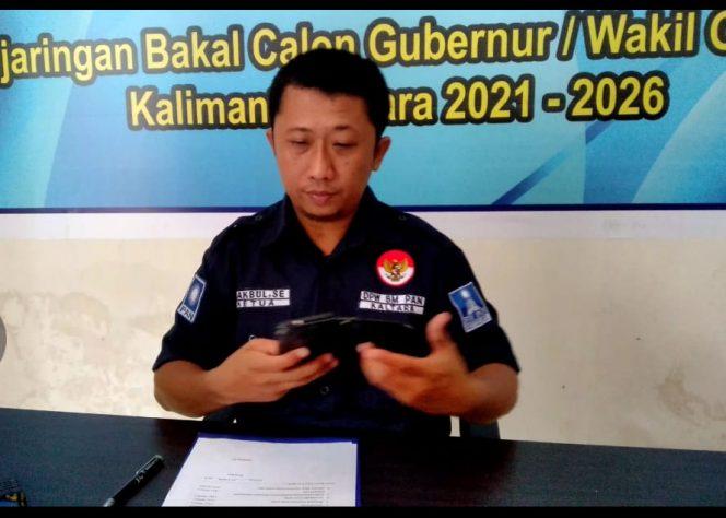Makbul, Anggota Tim Penjaringan DPW PAN Kaltara. Poto: Ari/fokusborneo.com