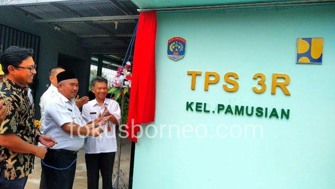 Walikota Tarakan Khairul Resmikan TPS 3R di Kelurahan Pamusian Tarakan (15/1). Poto: Ari / fokusborneo.com