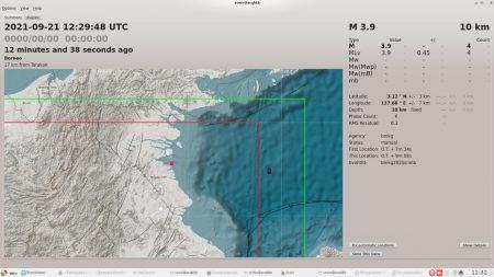 Gempa Bumi M-3.9 SR Guncang Tarakan, Lokasi 27 KM Arah Tenggara