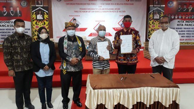 Bawaslu Kabupaten Tana Tidung  bekerjasama dengan Universitas Borneo dalam pengembangan pengawasan partisipatif dan pengabdian universitas ke masyarakat