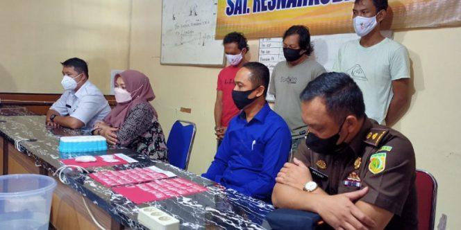 Pres Release Pemusnahan Barang Bukti Sabu-Sabu Oleh Satreskoba Polres Tarakan. Foto: fokusborneo.com