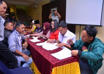 Suasa Rapat Pleno Terbuka Penetapan Kursi dan Calon Terpilih Anggota DPRD Kota Tarakan Pemilu Tahun 2019 (22/7). Poto : Slamet
