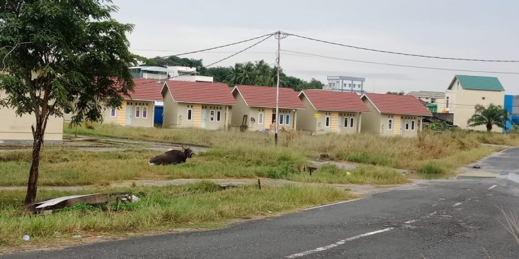 Salah Satu Perumahan yang dibangun Kementerian PUPR di JL. Rusunawa, Boom Panjang, Tarakan. Poto : Ari/fokusborneo