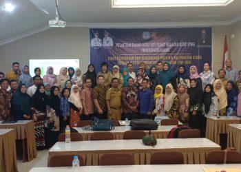 Poto Bersama Disdikbud Kaltara dan PSF-SDO Bersama Seluruh Peserta Pelatihan Guru Inti PBG Sekaltara. Rabu (24/7). Poto : Slamet