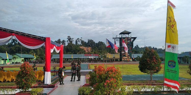 Tampak Prajurit TNI AD Melaksanakan Persiapan Pembukaan Latma INDOMALPHI Exercise 2019 di Tarakan.