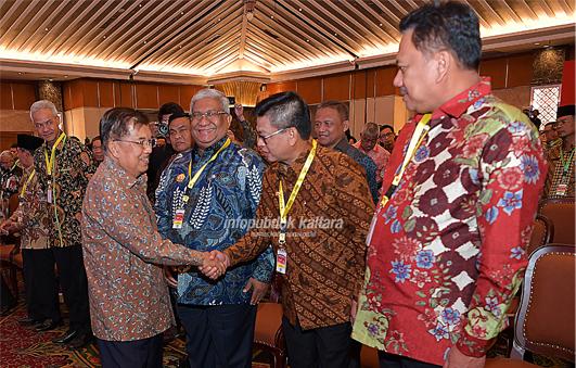 Gubernur Kaltara, Dr H Irianto Lambrie menghadiri Rakornas Pengendalian Inflasi yang dibuka oleh Wapres HM Jusuf Kalla di Puri Agung Hotel Grand Sahid Jaya, Jakarta, Kamis (25/7). Poto : Istimewa