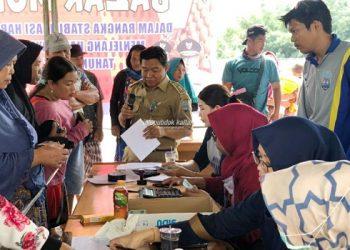 Dinas Pertanian dan Ketahanan Pangan (DPKP) Gelar Pasar Murah Jelang Idul Adha. Poto : Humas Pemprov Kaltara