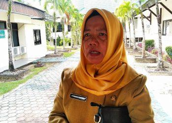 Mariyam, Kepala Dinas Sosial dan Pemberdayaan Masyarakat pemkot Tarakan. Poto : Ari/Fokusborneo.