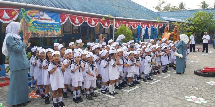TK Hang Tuah Tarakan sambut Tim Penilai LSS Nasional. Poto : Slamet/Fokusborneo.