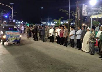 Puluhan Kendaraaan R4 Meriahkan Pawai Takbir Jelang Idul Adha 1440 H Sabtu(9/8). Poto : Ari/Fokusborneo