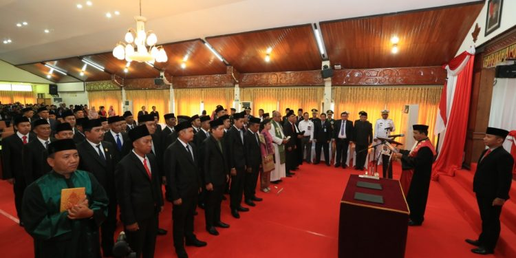 Pengambilan Sumpah/Janji 30 Anggota DPRD Kota Tarakan Masa Bhakti 2019/2020. (12/8). poto : Istimewa