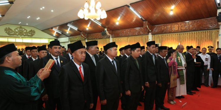 Pengambilan Sumpah/Janji 30 Anggota DPRD Kota Tarakan Masa Bhakti 2019-2024, Senin (12/7). Poto : Istimewa