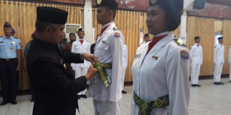 Walikota Tarakan Khairul Kukuhkan Paskibra Tarakan Tahun 2019. Jum'at (16/8)