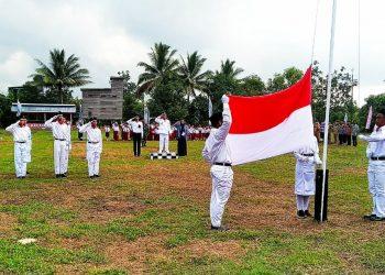 Upacara Peringatan HUT RI Ke-74 Tahun, di Desa Tepian, Kec Sembakung, Nunukan,. (17/8). Poto : Ari/Fokusborneo