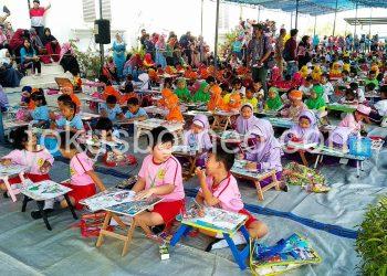 Kenalkan Sejarah Sejak Dini Melalui Lomba Mewarnai Tingkat TK se-Kota Tarakan, (24/8). Poto : Ari/Fokusborneo