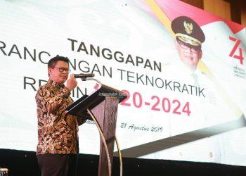 PEMINDAHAN IKN : Gubernur Kaltara Dr H Irianto Lambrie saat menghadiri konsultasi regional penyusunan rancangan awal RPJMN 2020-2024 untuk wilayah Kalimantan di Balikpapan, baru-baru ini. Foto : Humas Pemprov Kaltara