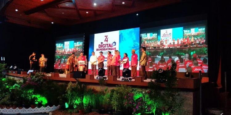 Menteri Kominfo RI Rudiantara Launching Program Digitalisasi Perbatasan di Kabupaten Nunukan, Kaltara (31/8). Poto: Ari/Fokusborneo