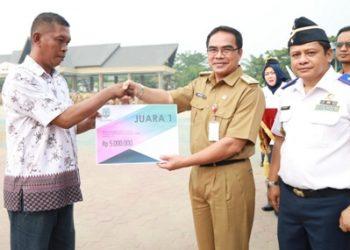 HARHUBNAS: Pelaksanaan upacara Harhubnas 2019 di Lapangan Agatish Tanjung Selor, Senin (16/09).Poto: Humas Pemprov Kaltara