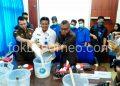 Kepala BNNP Kaltara Brigjen Pol Herry Dahana Pimpin langsung pemusnahan barang bukti Narkotika jenis Sabu, Selasa (3/9). Poto: Ari/fokusborneo