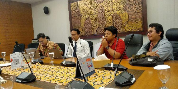 Perwakilan Wilayah Bank Indonesia Kaltara bersama awak Media mengikuti Video Conference Fesyar KTI 2019 (10/9). Poto:Ari/Fokusborneo.