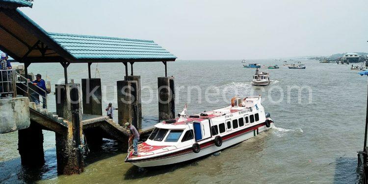 Cuaca Buruk, Seluruh Speedboat ditunda Keberangkatanya di Pelabuhan Tengkayu I SDF Tarakan. Poto: Ari/Fokusborneo