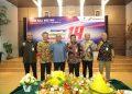 residen Direktur PT Pertamina EP Nanang Abdul Manaf bersama jajaran, dalam seremonial syukuran HUT PEP Ke-14. Poto: Pertamina EP