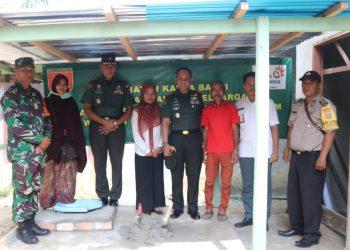 Kodim 0907/Tarakan bekerjasama dengan PT.Telkom bangun fasilitas Jambanisasi yang lebih layak untuk membantu dan digunakan warga kurang mampu.Poto: endim 0907/Trk