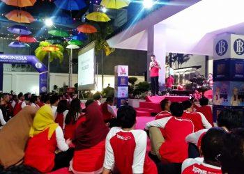 Nongrong Bareng Komunitas di Halaman Kantor perwakilan Bank Indonesia Prov Kaltara (21/9). Poto: Ari/fokusborneo