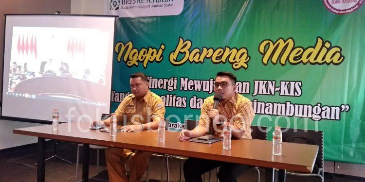 Kepala BPJS Kesehatan Tarakan dr. Wahyudi Putra Pujianto bersama Asisten I Bidang Pemerintahan Pemkot Tarakan Hendra Arfandi. (24/9). Poto: fokusborneo