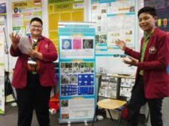 PRESTASI : 2 pelajar Tarakan, Yossy dan Imam yang berhasil meraih medali emas pada WICE Malaysia 2019.Poto: Humas Provinsi Kaltara