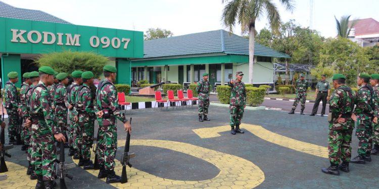 Tim Kodiklat TNI AD saat Ber kunjung ke Kodim 0907/Tarakan.Poto:Pendim 0907/Trk