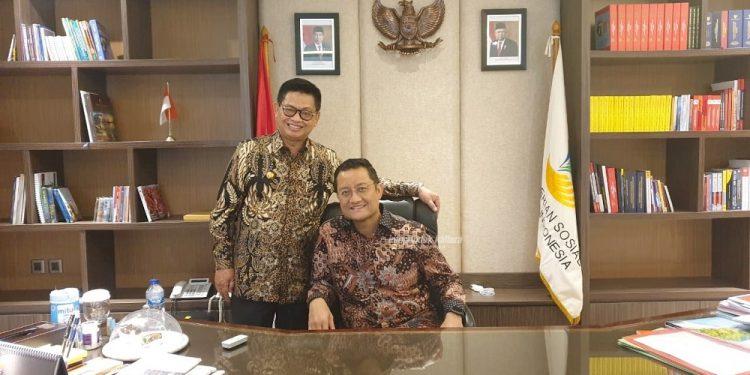 AUDIENSI : Gubernur Kaltara, Dr H Irianto Lambrie berfoto bersama Mensos RI Juliari P Batubara, baru-baru ini. Poto: Humas Provinsi Kaltara