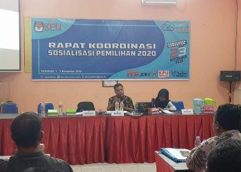 Rakoor Sosialisasi Pemilihan 2020 KPU Provinsi Kaltara Bersama KPU Kab/Kota, (2/11). Poto: Slamet / fokusborneo.com