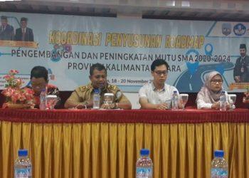 Rakoor Penyusunan Roadmap Pengembangan dan Peningkatan Mutu SMA 2020-2024 Provinsi Kaltara (19/11). Poto: Slamet / fokusborneo.com