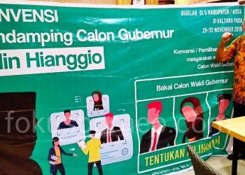 Cari Pasangan Wakil, Udin Hianggio Gunakan Metode Konvensi. Poto: Ari / fokusborneo.com