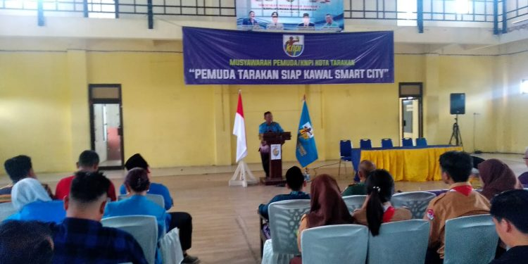 Wakil Walikota Tarakan Effendhi Djuprianto Membuka Secara Resmi Muda KNPI Tarakan (30/11). Poto: Ari / fokusborneo.com