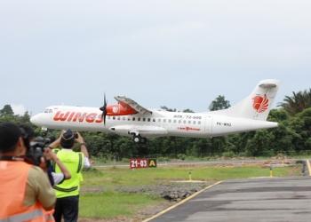 ANGKUTAN UDARA : Aktivitas penerbangan di Bandara Tanjung Harapan, Bulungan. BI memperkirakan pada 2020, tarif angkutan udara akan menurun. Poto:Humas Provinsi Kaltara