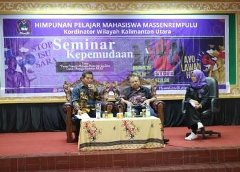 Seminar Kepemudaan Himpunan Pelajar Mahasiswa Massenrempulu (HPMM) di Kota Tarakan. Poto : Humas Pemprov Kaltara