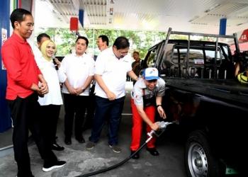 Presiden Joko Widodo secara resmi memulai implementasi penerapan program biodiesel 30 persen atau B30. Foto: Rusman - Biro Pers Sekretariat Presiden
