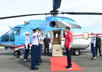 Presiden Jokowi Akan Tinjau Jalan Perbatasan dan Potensi Hydro Power di Kaltara (19/12.  Foto: Muchlis Jr - Biro Pers Sekretariat Presiden.