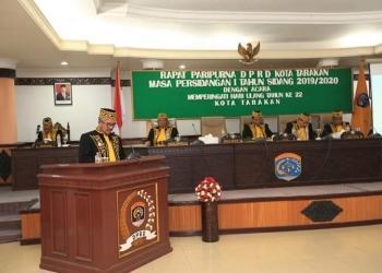 Rapat Paripurna DPRD Kota Tarakan, Memperingati Hari Ulang Tahun Kota tarakan ke 22. Poto: Dok. Humas & Protokol Pemkot Tarakan