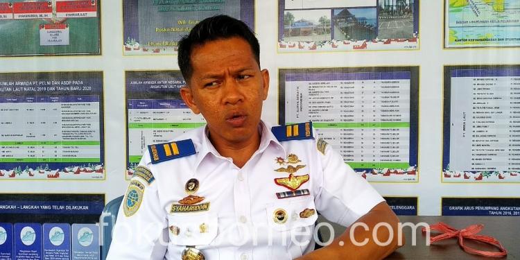 Syaharuddin, Kasi Keselamatan Berlayar, Penjagaan dan Patroli KSOP Kelas III Tarakan. Poto: fokusborneo.com