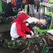 Prajurit Kodim 0907/ Trk Melaksanakan Donor Darah Dalam Rangka Hari Amal Bakti ke - 74 Di Stadion Datu Adil.Poto : Doc.Pendim 0907/Trk