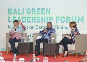 NARASUMBER : Gubernur Kaltara, Dr H Irianto Lambrie saat menjadi narasumber pada Bali Green Leadership Forum, Kamis (23/1). Poto: Humas Provinsi Kaltara