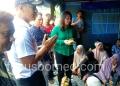 Ketua dan Anggota DPRD Provinsi Kaltara Sambangi Korban Kebakaran di Tenda Pengunsian (22/1). Poto: Ari / fokusborneo.com
