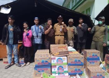 GMKI Tarakan dan Lembaga Gereja Salurkan Bantuan Untuk Korban Kebakaran Pasar Batu (28/1). Poto: Istimewa