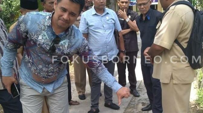DPRD Tarakan Soroti Bekas Galian Jargas Belum di Kembalikan. Poto: Ari / fokusborneo.com