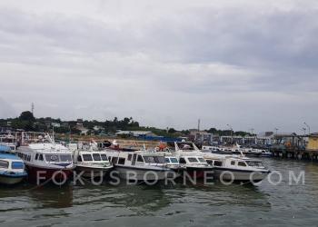 Terlihat Sejumlah Speedboat Reguler Tidak Berlayar di Pelabuhan SDF Tarakan Beberapa Waktu Lalu. Poto:  Doc fokusborneo.com