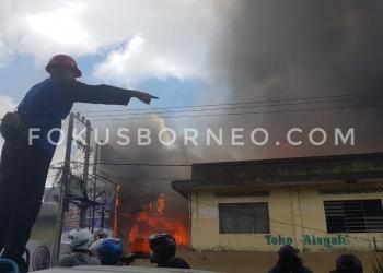 Kebakaran Pasar Batu Beberapa Waktu Lalu. Poto: Fokusborneo.com
