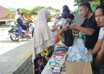 Komunitas TTD Tarakan Buka Posko Penyaluran Bantuan Korban Kebakaran Pasar Batu Sebengkok (21/1). Poto: Istimewa